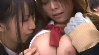Japanese lesbian bus gropers
