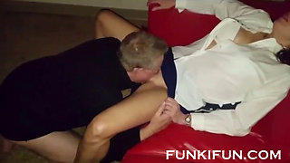 SISTER SUCKS AND FUCKS HARD HER BROTHER - FUCK HER TOO