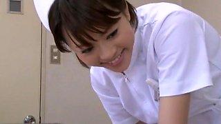 Fabulous Japanese whore Reiko Nakamori, Aya Sakuraba, Yu Kawakami in Crazy Nurse JAV movie