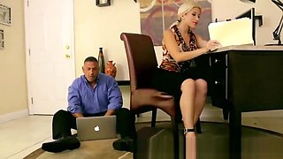 boss dominated by his sexy secretary at office