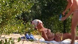 Flashing at the beach