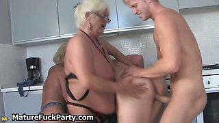 Dirty mature slut having group sex part1