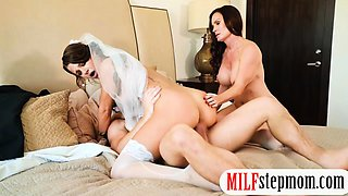 Bride to be threesome with her stepmom
