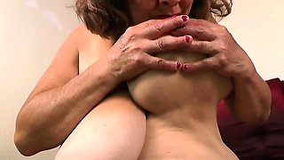 Nylon pantyhose get gilfs Brenda and Rosaly in the mood