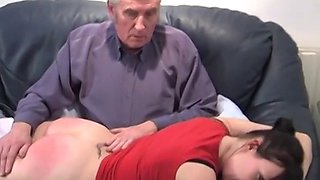 She is spanked multiple times