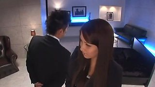 Exotic Japanese chick Ren Bitou in Best Secretary JAV video