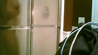 girlfriend in bathroom