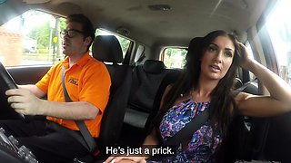 Fake Driving School Posh cheating wife with great tits