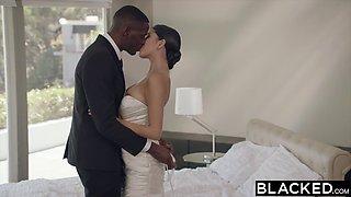 Big black cock for Latina bride