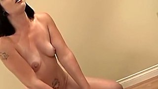 Amateur brunette stripper with natural tits wanted to make her first porno