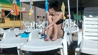 two younger sisters not in the water park