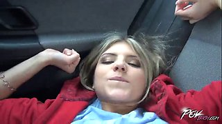 Gina gerson in right here in the car