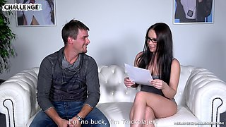 MILF Wendy Moon strips in front of a guy and gets ready to fuck