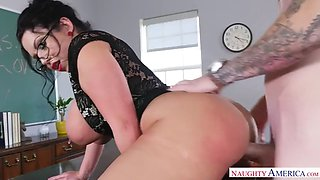 busty teacher sheridan love wants her student plow her pussy