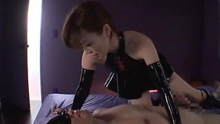 Best Japanese chick Nanako Mori in Amazing Femdom, Latex JAV movie