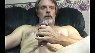 Mature Guy Next Door Man Strokes Big Cock