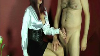 Mistress allows her slave fulfilling his fetish dream