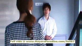 Akiho Yoshizawa innocent Chinese girl gets pussy licked