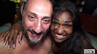 Casting Alla Italiana - Indian black-haired babe is fucked in an Italian casting