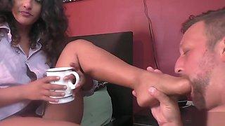 mistress foot gagging