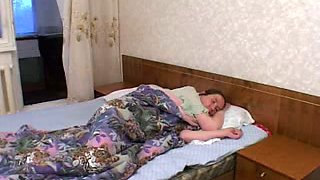 Mature Russian housewife is hungry for young cock