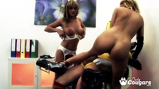 Breasted nurse Paige Ashley and Stacey Saran fucking hard