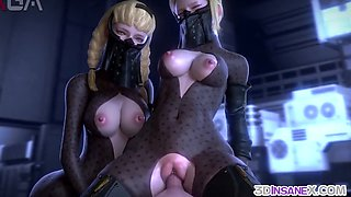 Round ass 3D babes fucking in compilation