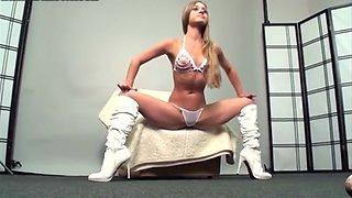 Margo the flexible Russia in white