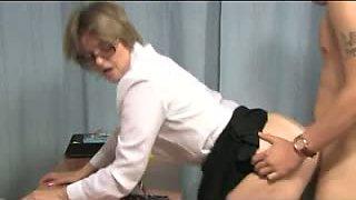 Mature Milf Teacher Gets Cum on her Glasses