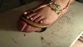 fat mexican girl cock trample with sandals