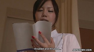 Horny Japanese nurse is toyed to multiple orgasms by a patie